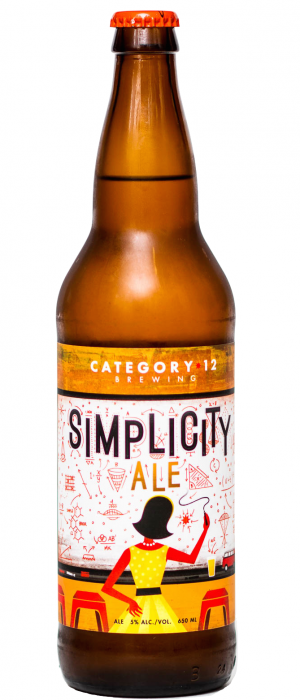 Simplicity Ale by Category 12 Brewing in British Columbia, Canada