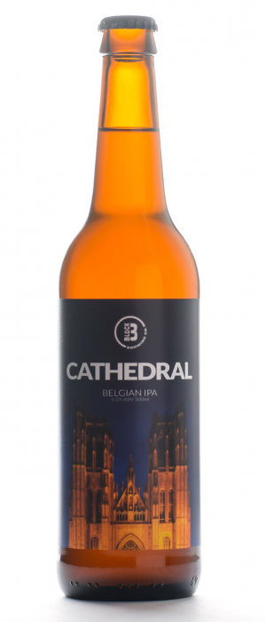 Cathedral Belgian IPA by Block Three Brewing Company in Ontario, Canada