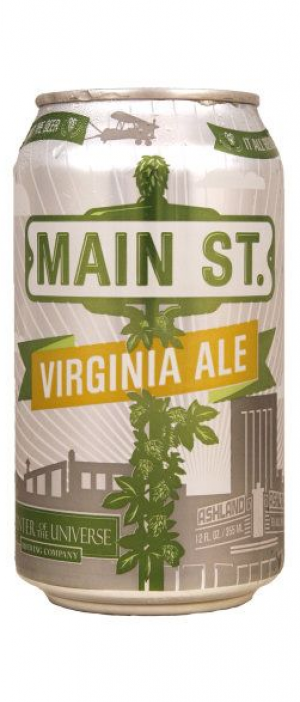 Main St. Virginia Ale by Center of the Universe Brewing Co. in Virginia, United States