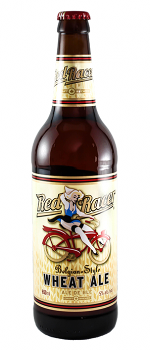 Red Racer White Ale by Central City Brewers & Distillers in British Columbia, Canada