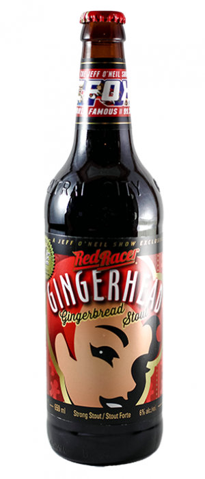 Red Racer Gingerhead Gingerbread Stout by Central City Brewers & Distillers in British Columbia, Canada