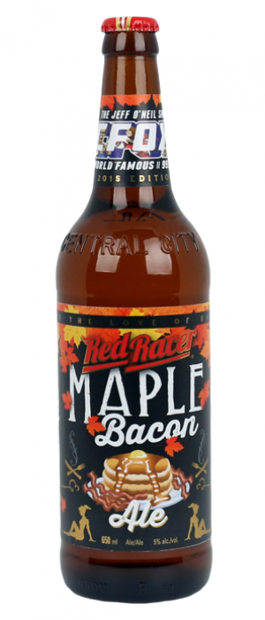 Red Racer Maple Bacon Breakfast Ale by Central City Brewers & Distillers in British Columbia, Canada