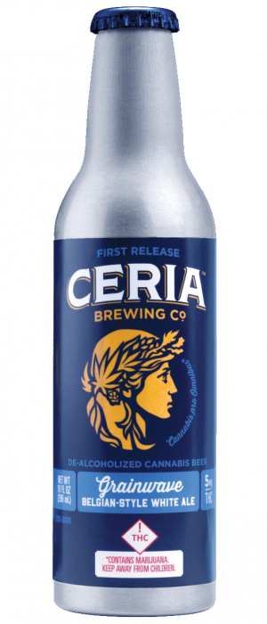 Grainwave Belgian-Style White Ale De-alcoholized Cannabis Beer by Ceria Brewing Co. in Colorado, United States