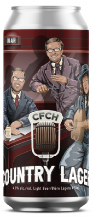 CFCH Country Lager by New Ontario Brewing Company in Ontario, Canada