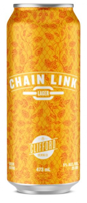 Chain Link Lager by Clifford Brewing Co. in Ontario, Canada