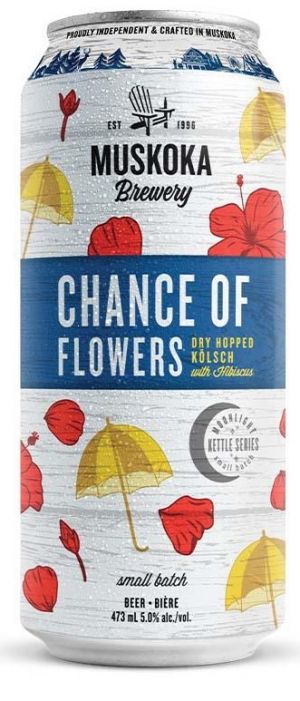Chance of Flowers by Muskoka Brewery in Ontario, Canada