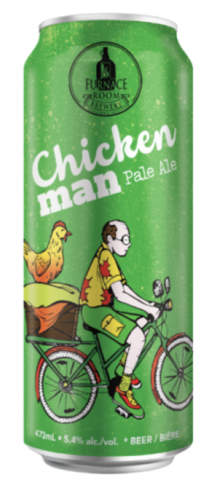 Chicken Man Pale ale by Furnace Room Brewery in Ontario, Canada