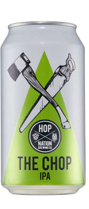 The Chop IPA by Hop Nation Brewing Co. in Victoria, Australia
