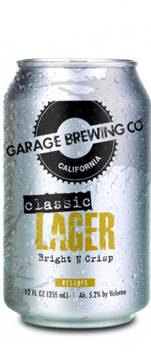 Classic Lager by Garage Brewing Co. in California, United States