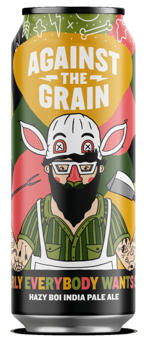 Clearly Everybody Wants Some Hazy Boi IPA by Against The Grain Brewery in Kentucky, United States