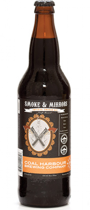 Smoke & Mirrors Imperial Smoked Ale by Coal Harbour Brewing Company in British Columbia, Canada