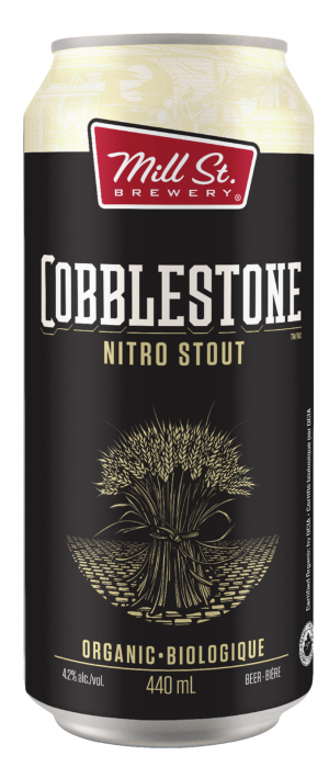 Cobblestone Nitro Stout by Mill Street Brewery in Ontario, Canada