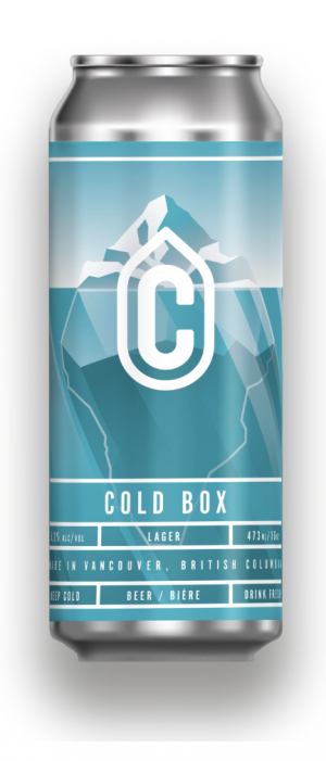 Cold Box Lager by Container Brewing Co. in British Columbia, Canada
