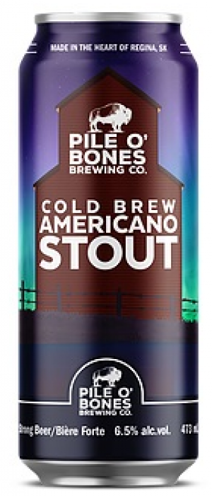 Cold Brew Americano Stout by Pile O' Bones Brewing Co. in Saskatchewan, Canada