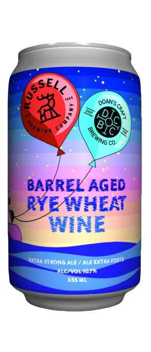 Barrel Aged Rye Wheat Wine (Collaboration with Doan's Craft Brewing) by Russell Brewing Company in British Columbia, Canada