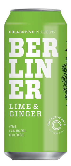 Berliner Weisse Lime & Ginger by Collective Arts Brewing in Ontario, Canada