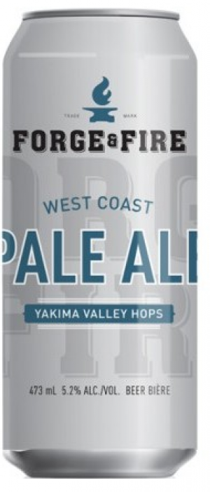 Forge & Fire West Coast Pale Ale by Collective Arts Brewing in Ontario, Canada