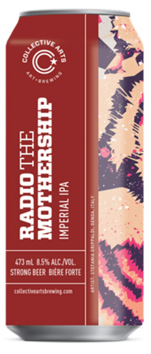 Radio The Mothership by Collective Arts Brewing in Ontario, Canada