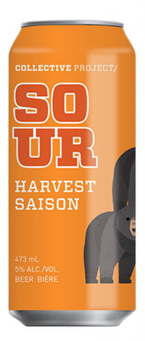Sour Harvest Saison by Collective Arts Brewing in Ontario, Canada
