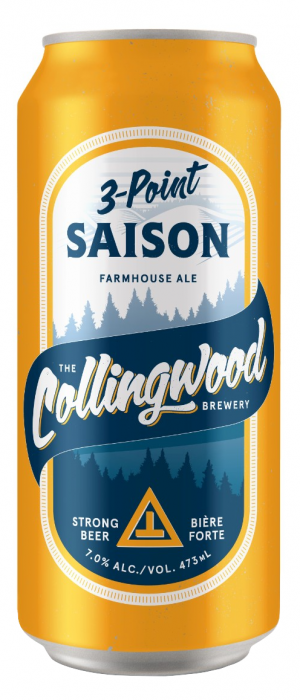 3-Point Saison by The Collingwood Brewery in Ontario, Canada