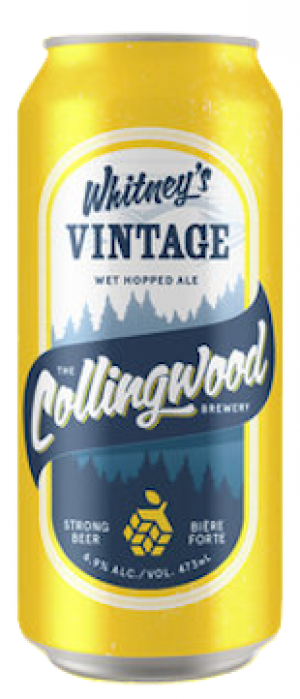 Whitney's Vintage Ale by The Collingwood Brewery in Ontario, Canada