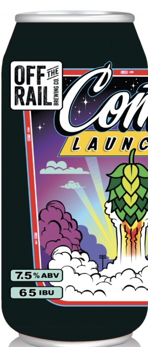 Comet Launcher Double IPA by Off The Rail Brewing Company in British Columbia, Canada