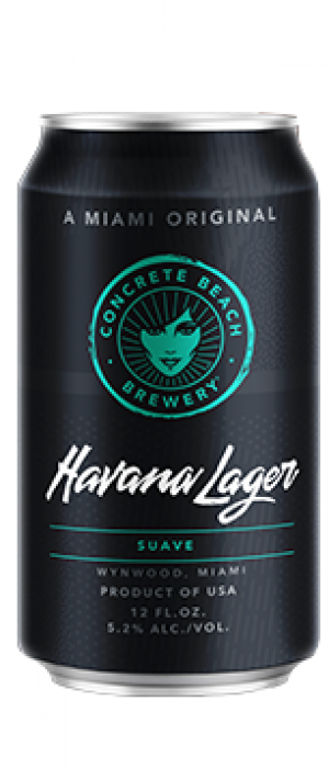 Havana Lager by Concrete Beach Brewery in Florida, United States