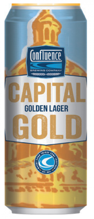 Capital Gold by Confluence Brewing Company in Iowa, United States