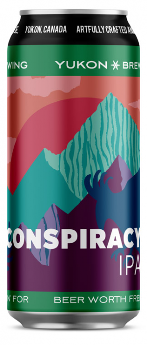 Conspiracy IPA by Yukon Brewing in Yukon, Canada