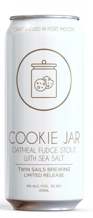 Cookie Jar Oatmeal Fudge Stout by Twin Sails Brewing in British Columbia, Canada