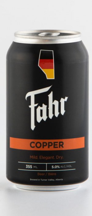 Copper by Brauerei Fahr in Alberta, Canada