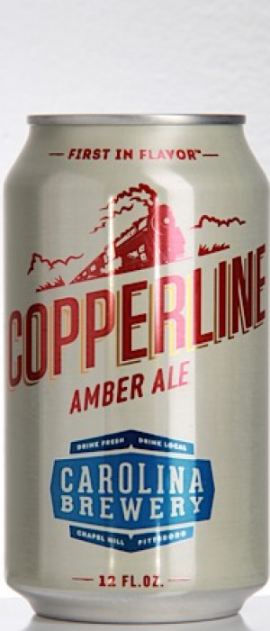 Copperline Amber Ale by Carolina Brewery in North Carolina, United States
