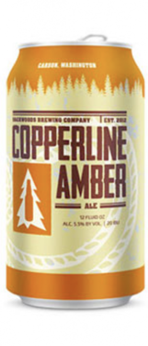 Copperline Amber by Backwoods Brewing Company in Washington, United States