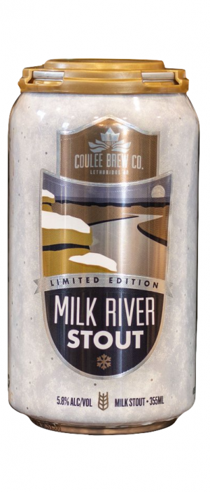 Milk River Vanilla Stout by Coulee Brew Co. in Alberta, Canada