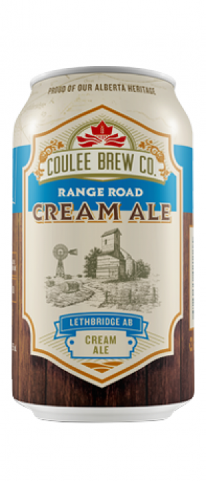 Range Road Cream Ale by Coulee Brew Co. in Alberta, Canada