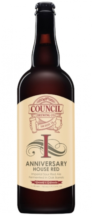 1st Anniversary Ale: House Red by Council Brewing Company in California, United States
