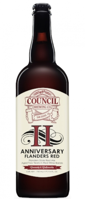 2nd Anniversary Ale: Flanders Red by Council Brewing Company in California, United States