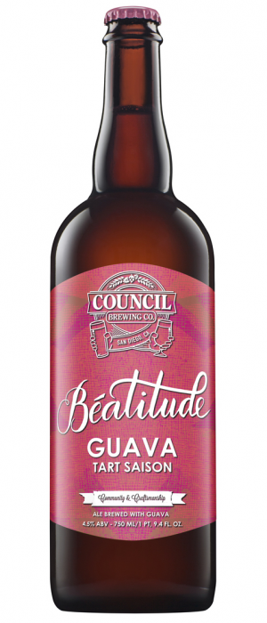 Beatitude Guava Tart Saison by Council Brewing Company in California, United States