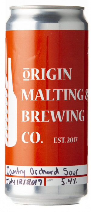 Country Orchard Sour by Origin Malting & Brewing Co. in Alberta, Canada