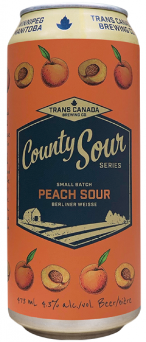 Country Sour Series: Peach Sour by Trans Canada Brewing Co. in Manitoba, Canada