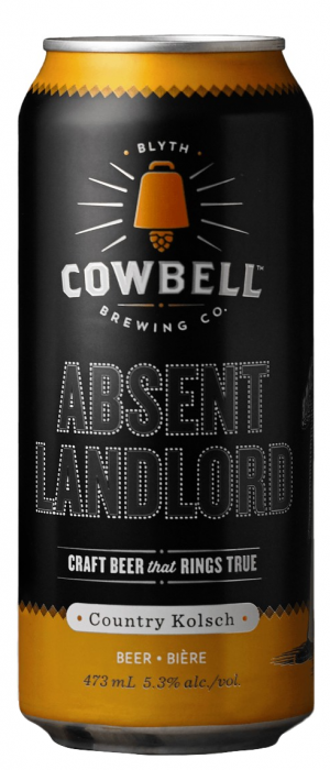 Absent Landlord by Cowbell Brewing Company in Ontario, Canada