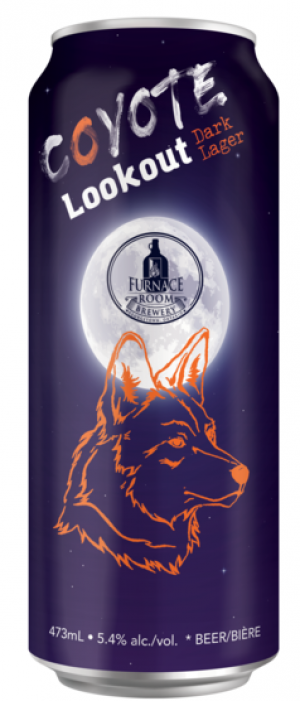 Coyote Lookout Dark Lager by Furnace Room Brewery in Ontario, Canada