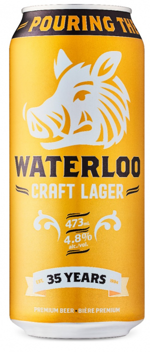 Craft Lager by Waterloo Brewing in Ontario, Canada