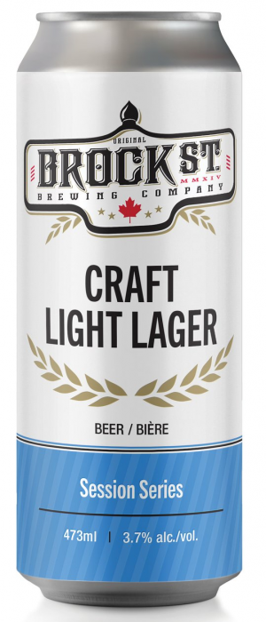 Craft Light Lager by Brock St. Brewing Company in Ontario, Canada