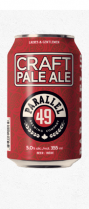Craft Pale Ale by Parallel 49 Brewing in British Columbia, Canada