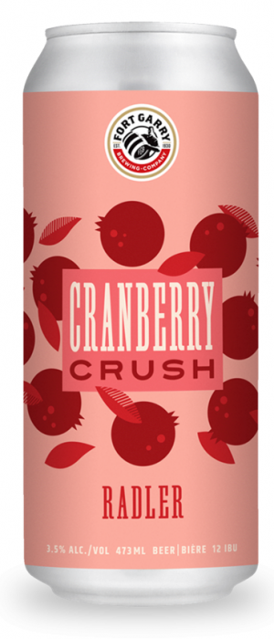 Cranberry Crush Radler by Fort Garry Brewing in Manitoba, Canada