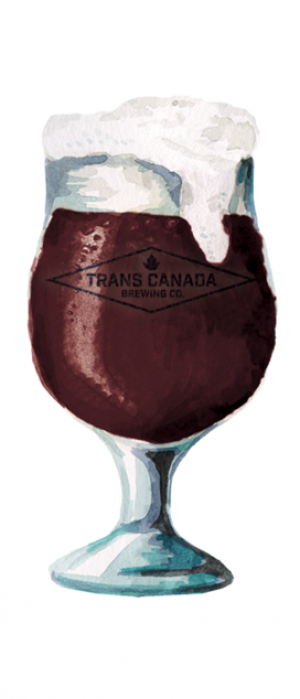 Cranberry Stout by Trans Canada Brewing Co. in Manitoba, Canada