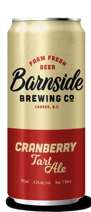 Cranberry Tart Ale by Barnside Brewing Co. in British Columbia, Canada