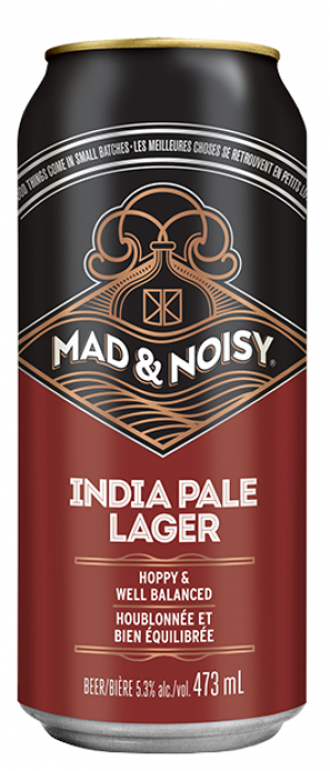 Mad & Noisy India Pale Lager by Creemore Springs in Ontario, Canada