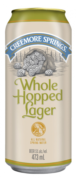 Whole Hopped Lager by Creemore Springs in Ontario, Canada